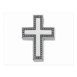 Cruz Pascua cristianas de plata Postales