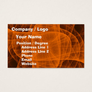 Cruz redondeada eterna abstracta en naranja tarjeta de visita