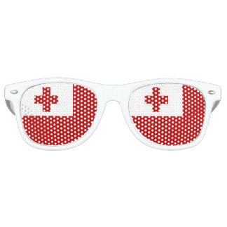 Cruz Roja de la bandera de la isla de Tonga Gafas De Fiesta Retro