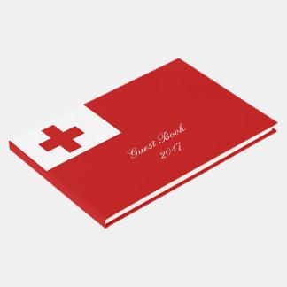 Cruz Roja de la bandera de la isla de Tonga Libro De Visitas