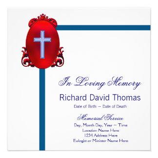 Cruz roja de los azules marinos en monumento cariñ comunicados personales