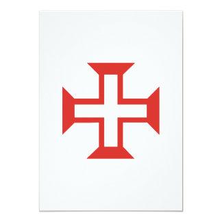 Cruz roja de Templar Invitación 12,7 X 17,8 Cm