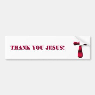 Cruz vacía de Pascua de la resurrección de Jesús Pegatina Para Coche