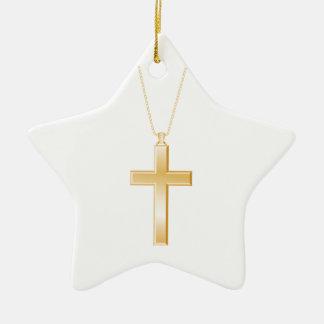 Cruz y cadena parecer del oro la joyería real ornamentos de reyes