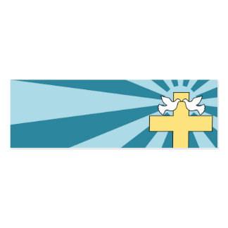 Cruz y palomas santas tarjetas de visita mini