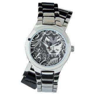 Cruzado de plata musical de Catman Reloj