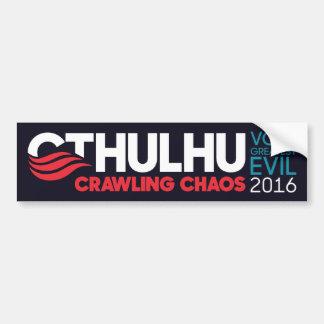 Cthulhu/Nyarlathotep para el presidente 2016 Pegatina Para Coche