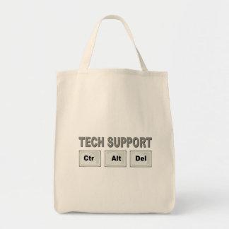 CTR Alt Del del soporte técnico Bolsa Tela Para La Compra