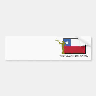 CTR de la misión LDS de Chile Vina del Mar Pegatina Para Coche