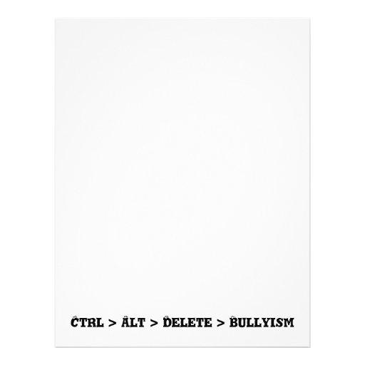Ctrl > Alt > cancelación > Bullyism - matón anti Tarjeton