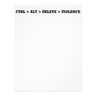 Ctrl > Alt > cancelación > violencia - matón anti Folleto 21,6 X 28 Cm