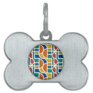 Ctrl en color/etiqueta del mascota del hueso placa para mascotas