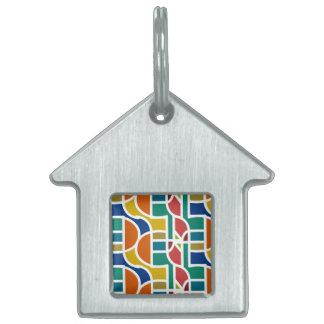 Ctrl en colores/etiqueta del mascota de la casa placa para mascotas