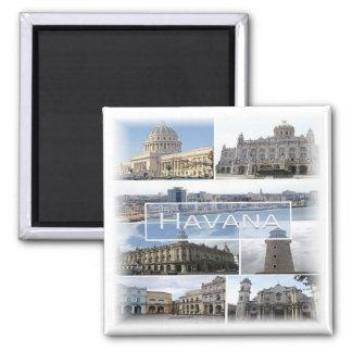CU * Cuba - La Habana - mosaico Imán Cuadrado