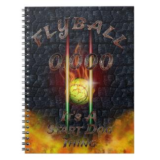 Cuaderno 0,000 Flyball Flamz: ¡Es una cosa del perro del