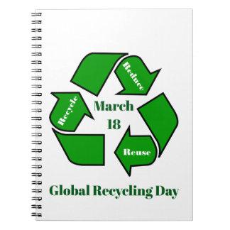 Cuaderno 18 de marzo, diseño de reciclaje global del día