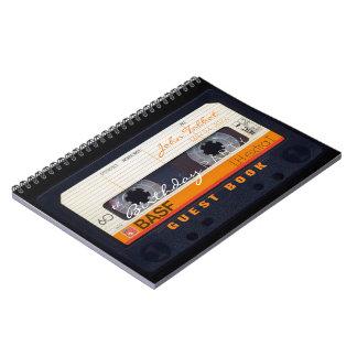 Cuaderno 60.o libro de visitas del cumpleaños de la cinta