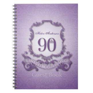 Cuaderno 90.o Libro de visitas enmarcado personalizado de