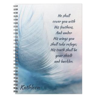 Cuaderno 91:4 inspirado del salmo que eleva debajo de sus