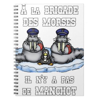 Cuaderno A la BRIGADA de los MORSES no hay MANCO