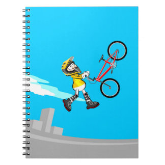Cuaderno Acrobacia extrema en una bicicleta BMX