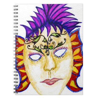 Cuaderno Acuarela 2 de la máscara del carnaval