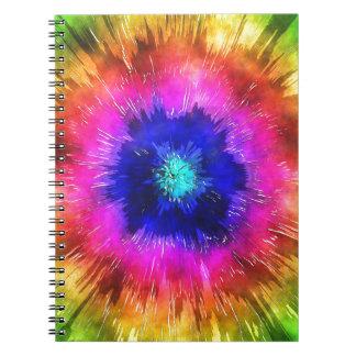 Cuaderno Acuarela del teñido anudado de Starburst