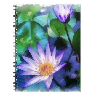 Cuaderno Acuarela púrpura de Lotus