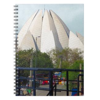 Cuaderno Adoración de la casa de Nueva Deli la India Bahá'í