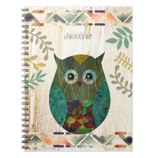 Cuaderno Adorno tribal de la sabiduría del búho