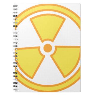 Cuaderno Advertencia radiactiva