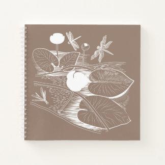 Cuaderno Agua-lirios que graban
