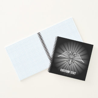 Cuaderno Águila gris con dos cabezas