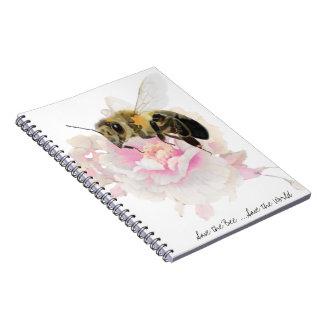 Cuaderno ¡Ahorre la abeja! ¡Ahorre el mundo! Abeja bonita