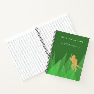 Cuaderno Ahorre los Lemurs