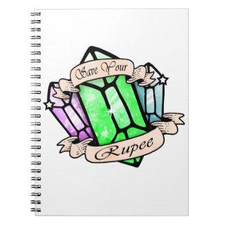 Cuaderno Ahorre su rupia