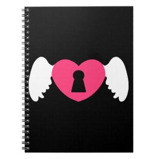 Cuaderno Ala del corazón del ojo de la cerradura