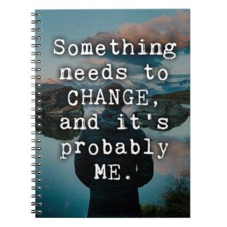 Cuaderno Algo necesita cambiar cita