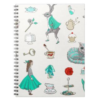 Cuaderno Alicia en el país de las maravillas