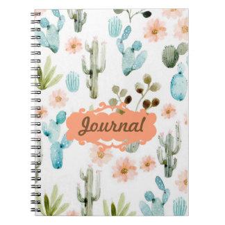 Cuaderno alineado diario en colores pastel del
