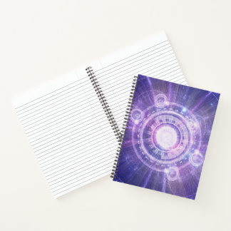 Cuaderno Alquimia azul HUD del fractal para doblar