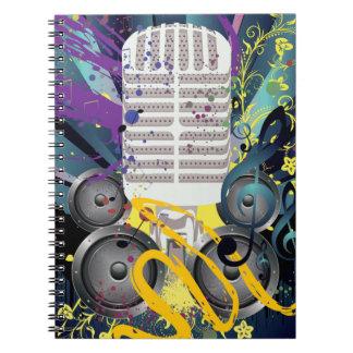 Cuaderno Altavoz del Grunge y Microphone3