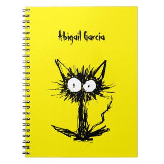 Cuaderno Amarillo del gato del susto