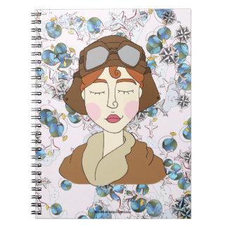 Cuaderno Amelia Earhart - mujeres notables