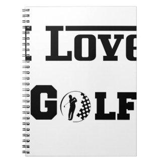 Cuaderno Amo el golf 2