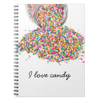 Cuaderno Amo el libro del caramelo