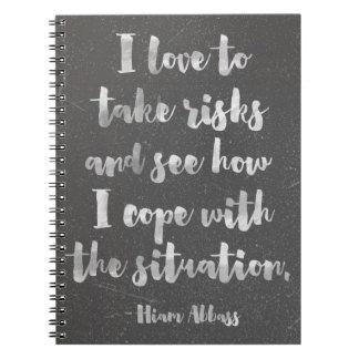 Cuaderno Amo tomar cita de los riesgos