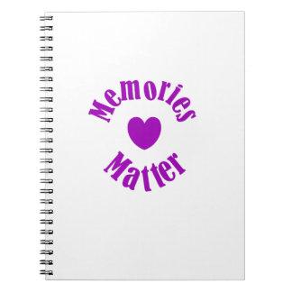 Cuaderno Amor púrpura de las memorias de la cinta de la