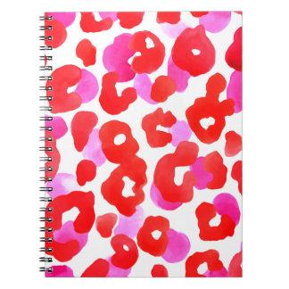 Cuaderno Amor salvaje del rojo del ethno del jaguar