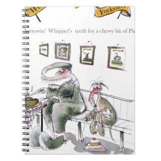 Cuaderno amor Yorkshire que pide prestados los dientes de